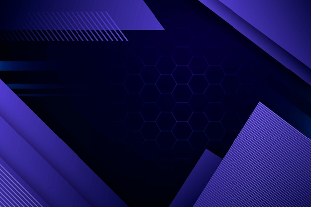 Purple geometric shapes with honeycomb