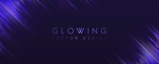 Purple glowing neon background vector