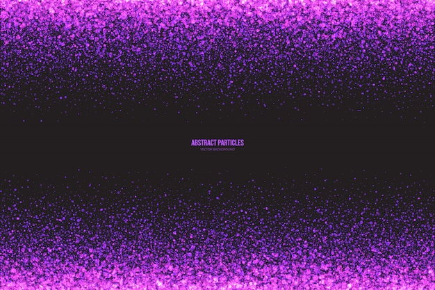 Purple glowing particles abstract  background
