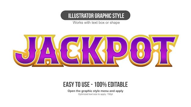 Purple and golden 3d cartoon editable text effect