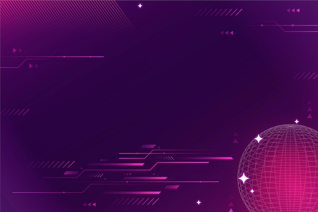 Purple gradient technology background