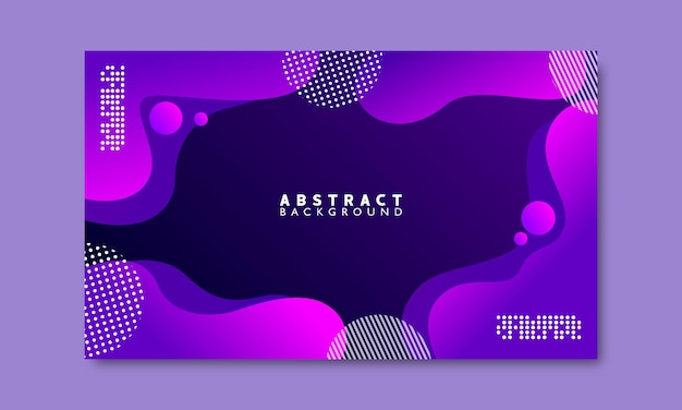 Purple gradient with shapes abstract background