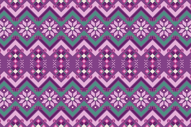 Purple and green songket pattern