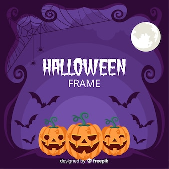 Purple halloween frame