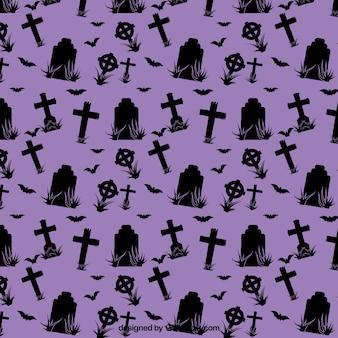 Фиолетовый узор хэллоуин