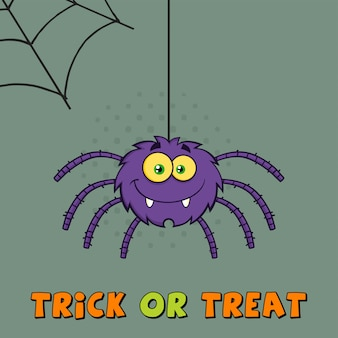 Purple halloween spider