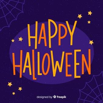 Purple happy halloween lettering