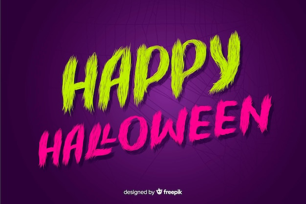 Purple happy halloween lettering