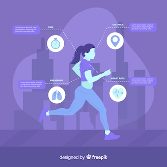 Purple health infographic flat design