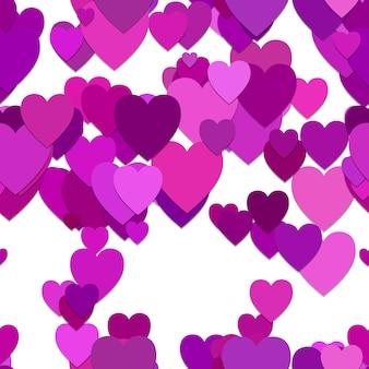 Cuore viola sfondo pattern