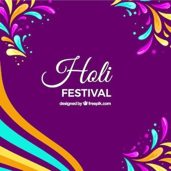 Purple holi festival background