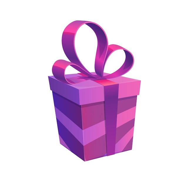 弓と紫色のホリデーギフトボックス