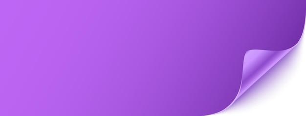 Фиолетовый горизонтальный шаблон баннера.