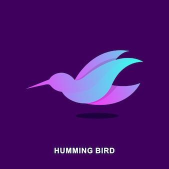 Purple humming bird illustration