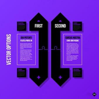 Purple infographic template