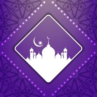 모스크와 보라색 이슬람 배경