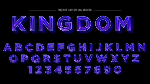 Purple jewel style typography design