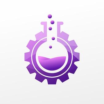 紫色の実験室のロゴ