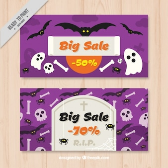 Purple labels with great sales