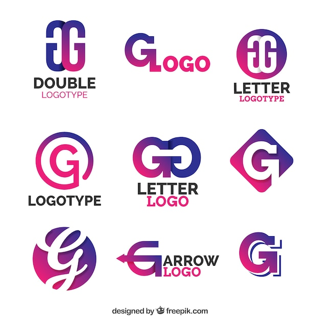 Purple Letter G Logo Collection