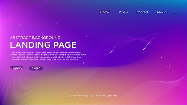 Purple light abstract landing page background