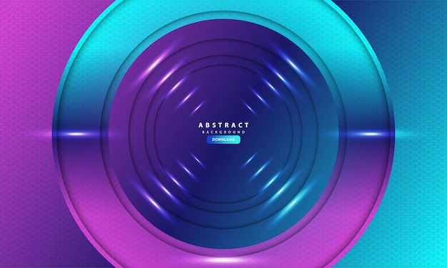 Purple light hexagon abstract background