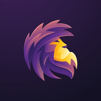 Purple lion logo