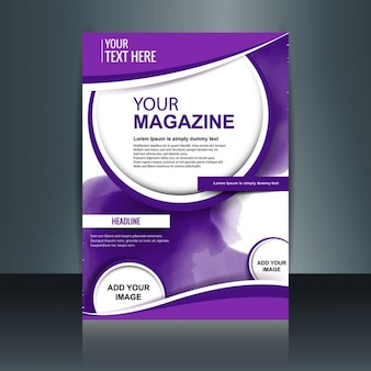 Purple magazine template