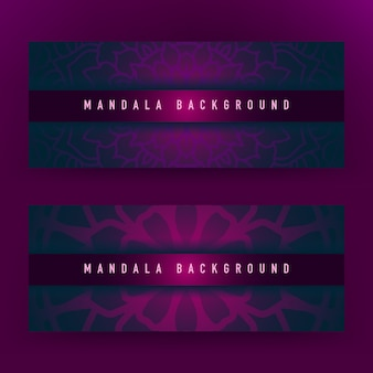 Purple mandala background