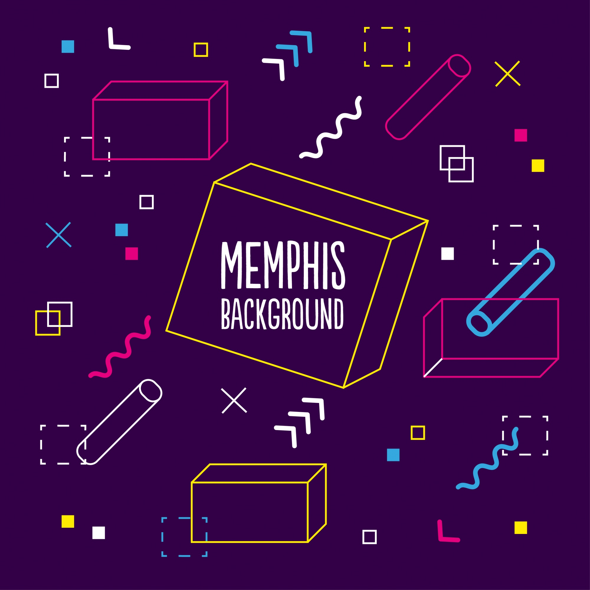 Purple memphis background