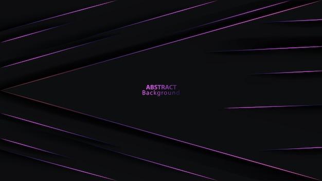 紫色のメタリック矢印方向の未来的な背景