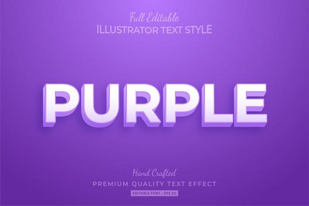 Purple modern editable 3d text style effect