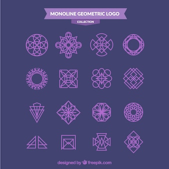 Purple monoline logo pack