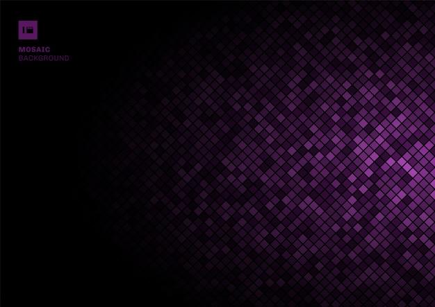 紫モザイクピクセルパターン
