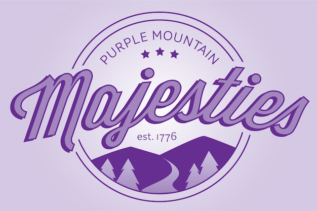 Purple mountain majesties badge logo