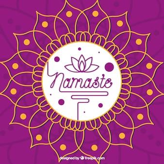 曼陀羅の紫色のナレッジの背景