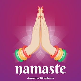 Purple namaste background