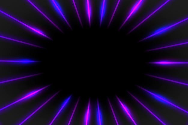 Purple neon frame on a dark background