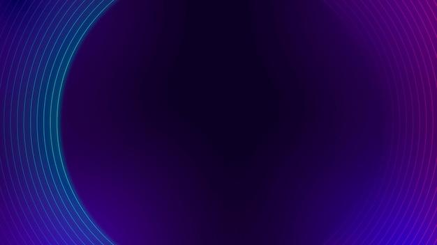 Motivo foderato al neon viola su un banner blog scuro vettore