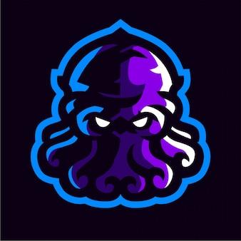 Purple octopus gaming logo