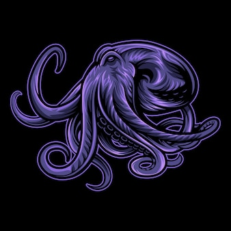 Purple octopus illustration