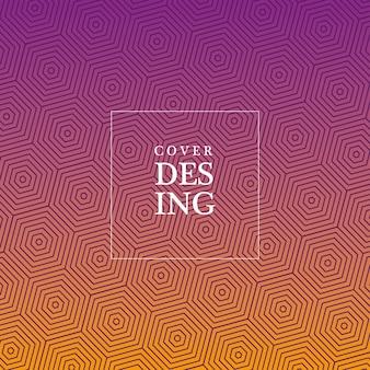 Фиолетовый оранжевый градиент и узор фона, дизайн обложки.