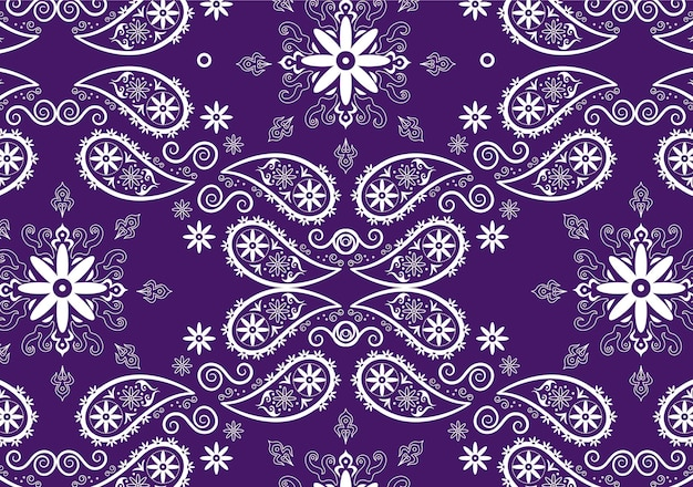 Purple paisley bandana pattern