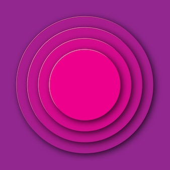 Purple paper art circle background.  illustration.