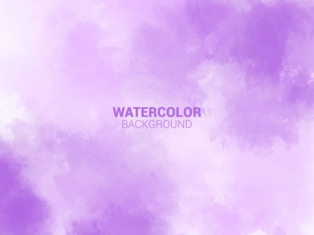 Purple pastel watercolor background.