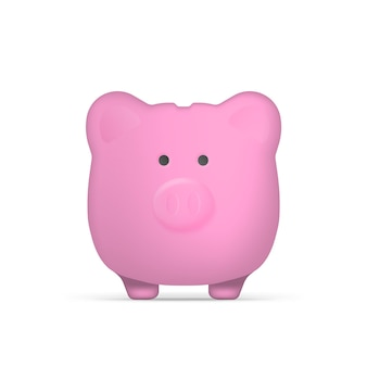 Purple piggy bank in the form of pigs. piggy bank for money. isolated. vector.
