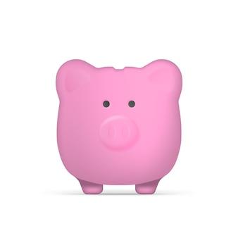 豚の形をした紫色の貯金箱。お金のための貯金箱。孤立。ベクター。