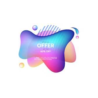 Purple and pink abstract liquid shape. fluid design, abstract modern graphic elements. dynamical colored forms and line. gradient abstract banners with flowing liquid shapes