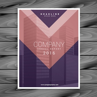 Purple pink arrow style business brochure