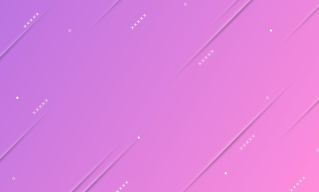 Purple and pink gradient with shadow lines texture and memphis elements. design for web, leaflets